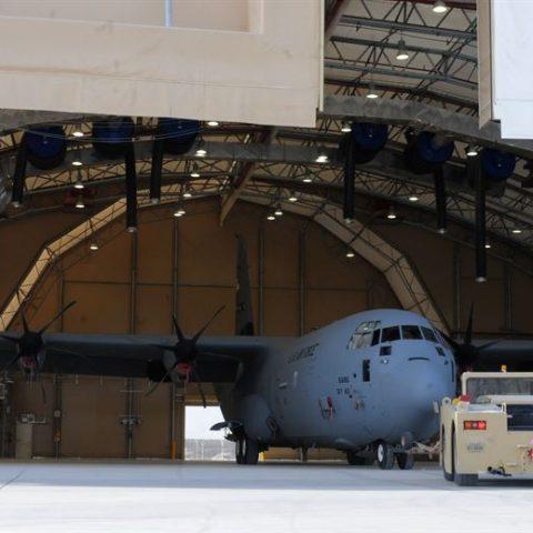 C-130 MAINTENANCE HANGAR, AFGHANISTAN